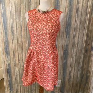 Lovemarks coral embroidered sleeveless dress